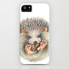 Hedgehog ball iPhone & iPod Case by Patrizia Ambrosini - $35.00