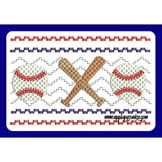 Faux Smocked Baseball Embroidery Design / Applique Junkie