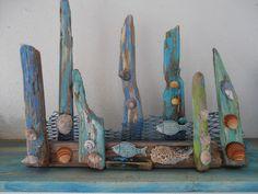 Wave breaker. Sea side art design by Philippa Komercharo.
