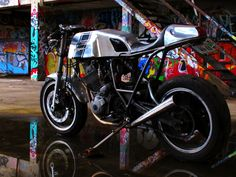 This is the Mongrel. A custom Yamaha XT600 haling from the darker side of Sydney's Cafe Racer scene. The Mongrel is a purpose built street racer that's custom to the core and ridden hard on a daily basis.