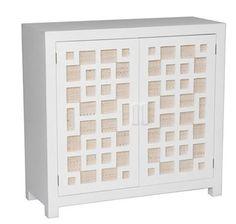 Joss & Main cabinet with burlap texture on doors