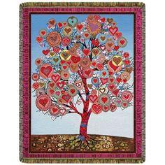 Tree of Lovers Tapestry Throw  #yoga #blanket #healing #meditation #home #homedecor #decorating #reiki #spa #salon #healing #tree #lovers