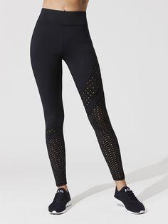 f44b7435ef672 Eyelet Side Twist Leggings in Black Workout Pants
