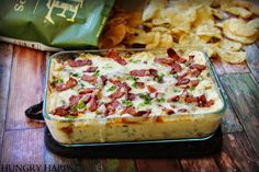 Hungry Harps: Cheesy Pineapple Dip with Bacon