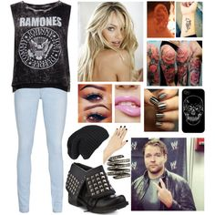 Interview with Dean Ambrose by infinity-sabry on Polyvore featuring Pull&Bear, True Religion, 2 Lips Too and Lynn Ban