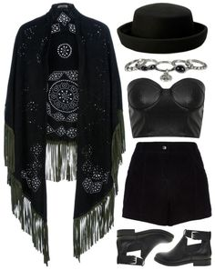 Polyvore Gore. Love the short and the hat