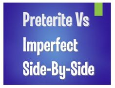 Let students see Spanish preterite and imperfect verbs in direct comparison and contrast!This activity includes three pages - you could do them all together or do one per day to help hone in on the difference!  The first page looks at imperfect to set the scene of a story and preterite to tell the plot points.The second page looks at imperfect for on-going and repeated events and preterite for isolated actions.
