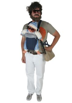 """If you could get your baby to wear sunglasses, this """"hangover"""" costume would be pretty hilarious!"""