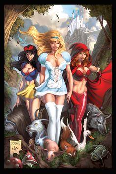 Snow White, Cinderlla, Red - classic-disney fan art