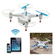 BlueBeach Quadcopter CX30W 4 canaux 3D Gyro UFO Drone avec WIFI Caméra-Compatible avec IOS seulement (Bleu) BlueBeach http://www.amazon.fr/dp/B00QC1XIFA/ref=cm_sw_r_pi_dp_Vmo0vb0BCP90Z