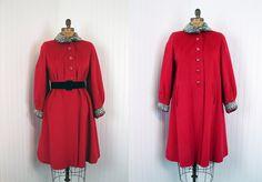 1940s+Coat++Vintage+40s+Swing+Coat++Cherry+Red+Wool+by+jumblelaya,+$178.00