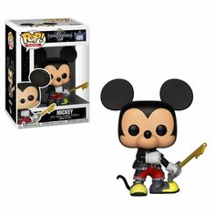 From Kingdom Hearts Mickey, as a stylized POP vinyl from Funko! Stylized collectable stands 3 ¾ inches tall, perfect for any Kingdom hearts 3 fan! Collect and display all Kingdom hearts 3 figures from Funko! Approximately inches tall. Kingdom Hearts 3, Kingdom Hearts Figures, Kingdom Hearts Characters, Soiree Halloween Disney, Soirée Halloween, Pop Vinyl Figures, Funko Pop Figures, Disneyland Paris, Ri Happy