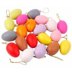 GBP - Mixed Color Plastic Hanging Easter Toy Egg Easter Decoration For Home Party. Easter Toys, Plastic Easter Eggs, Wire Ornaments, Hanging Ornaments, Diy Easter Decorations Home, Bunny Painting, Egg Decorating, Party Items, Colorful Drawings