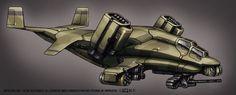 Contact Vtol Transport Gunship by *Shimmering-Sword on deviantART