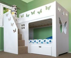 Deluxe Funtime Bunk Bed (Stairs Front) - Bunk Beds - Kids Beds - Kids Funtime Beds #bedding