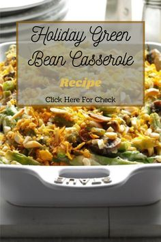 Try this green bean casserole and you'll never go back to the old stuff. #greenrecipe #beanrecipe #casserolerecipe #healthyrecipe #healthyfoodrecipe #foodrecipe #healthydiet #holidayrecipe #recipes Greenbean Casserole Recipe, Casserole Recipes, Real Food Recipes, Healthy Recipes, Green Bean Casserole, Greens Recipe, Bean Recipes, Eat Healthy, Green Beans