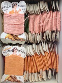 A box of Duldarn mending threads by scrapiana, via Flickr. Credit: www.scrapiana.com