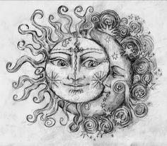 25 Awesome Sun And Moon Tattoo Ideas