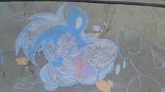 sidewalk chalk skunk pepe art love my retro cartoons
