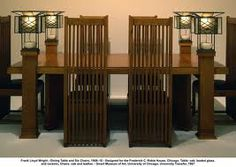 Frank Lloyd Wright Dining Set Prairie School Arts And Crafts House
