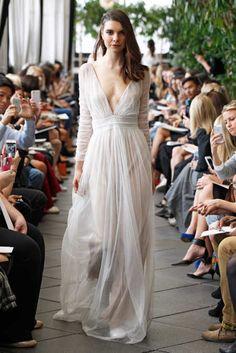 Delphine Manivet Fall 2015 Bridal (sheer wedding dresses long fey flowy transparent graceful diaphanous)