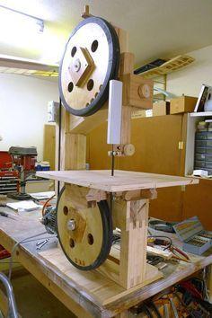 Rudolf Baumueller's bandsaw with sawmill sled