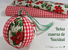 Handmade Tree Ornament with Fabric Victorian Christmas Ornaments, Christmas Ornament Crafts, Christmas Sale, Holiday Crafts, Quilted Ornaments, Xmas Decorations, Homemade Gifts, Ideas Creativas, Waiting