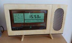 Retro TVRADIO tablet 2 Digital Alarm Clock, Cabinet, Retro, Storage, Furniture, Home Decor, Clothes Stand, Homemade Home Decor, Larger