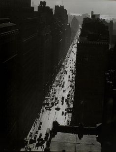 Berenice Abbott, 1935.  Seventh Avenue looking south from 35th Street, Manhattan, NY