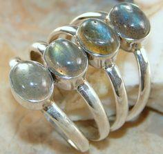 | Wow! Labradorite Gemstone Silver Ring Wholesale |