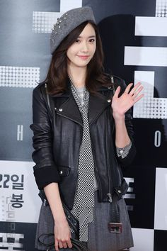 SNSD Yoona Kpop Fashion 151019 2015 | Leather Jacket