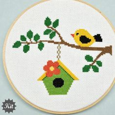 Thrilling Designing Your Own Cross Stitch Embroidery Patterns Ideas. Exhilarating Designing Your Own Cross Stitch Embroidery Patterns Ideas. Cute Cross Stitch, Cross Stitch Bird, Cross Stitch Animals, Cross Stitch Designs, Cross Stitching, Cross Stitch Patterns, Cross Stitch Embroidery, Embroidery Patterns, Hand Embroidery