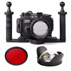 440.06$  Buy here - http://alixgf.shopchina.info/1/go.php?t=32715581507 - EACHSHOT 40m/130ft Waterproof Underwater Camera Housing Case for A6300 16-50mm Lens + Tray +  Red Filter + 67mm Round Fisheye  #magazineonlinebeautiful