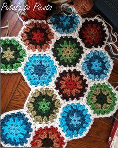 Petals to Picots Crochet: Granny Hexagon Pattern ... My Latest Love