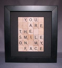 Your Fabulously Frugal Friend : 25 Creative Ways To Reuse Scrabble Tiles Scrabble Letter Crafts, Scrabble Tile Crafts, Scrabble Words, Scrabble Art, Scrabble Letters, Scrabble Coasters, Scrabble Ornaments, Letter Ornaments, Cute Crafts