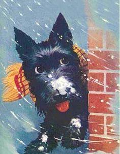 Christmas Scottie.