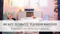 What's pretty, pink, and the perfect project for your home? This DIY playroom makeover! Promotional and other consideration provided by Target. For more DIYs. Playroom Design, Playroom Decor, Diy Room Decor, Home Decor, Video Blog, Diy Interior, Interior Design, Chandelier, Diy On A Budget