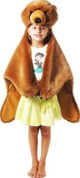 Ratatam Brown bear animal skin costume `One size 3 in 1: costume, decorative accessory and playmat, Head and hooves can be worn Details : Polyester, Cotton Lining Color : Brown 90 x 115 cm. http://www.comparestoreprices.co.uk/january-2017-7/ratatam-brown-bear-animal-skin-costume-one-size.asp