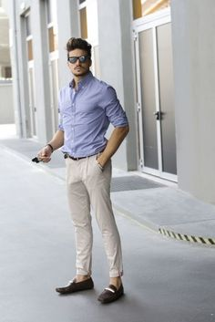 Stylish And Light Summer Men Work Outfits