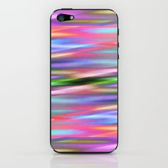 Multicolored lines no. 3 iPhone & iPod Skin by Christine baessler - $15.00