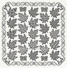 Maple Leaf Panel Embroidery Kit