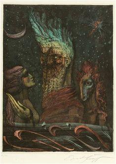 Ernst Fuchs Vienna School Of Fantastic Realism, Egypt Art, Examples Of Art, Occult Art, Visionary Art, Surreal Art, Traditional Art, Dark Art, Art Reference