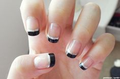 Black & Silver French Tips