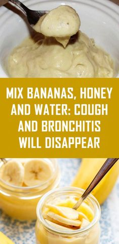 Mix Bananas, Honey and Water Cough and Bronchitis will Disappear