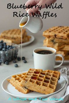 Hearty Blueberry Wild Rice Waffles are a taste of Minnesota perfect with a cup of coffee on a relaxing weekend morning. Gluten free and vegan friendly.