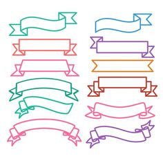 Ribbon Outline Cuttable Design Cut File. Vector, Clipart, Digital Scrapbooking Download, Available in JPEG, PDF, EPS, DXF and SVG. Works with Cricut, Design Space, Cuts A Lot, Make the Cut!, Inkscape, CorelDraw, Adobe Illustrator, Silhouette Cameo, Brother ScanNCut and other software.