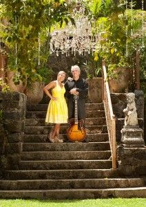 Awesome photo shoot  today with Maui Jazz players (and husband and wife), Phil and Angela Benoit!!  A big thank you to Sylvia at the Haiku Mill for letting us shoot at this amazing location.  http://http://hitchedonmaui.com/
