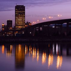 Downtown Buffalo and Skyway at Sunrise