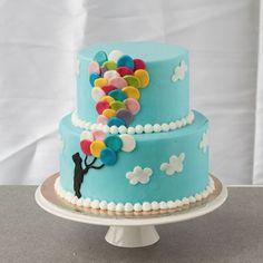 Tort kolorowe baloniki
