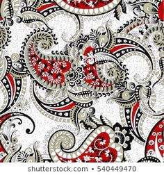Immagine vettoriale stock 540449470 a tema motivo cachemire (royalty free) Textures Patterns, Fabric Patterns, Print Patterns, Paisley Art, Paisley Design, Paisley Color, Print Wallpaper, Pattern Wallpaper, Henna Doodle